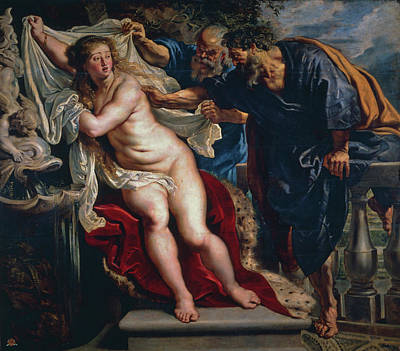 Bible Painting - Susanna And The Elders by Peter Paul Rubens
