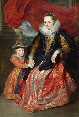 People Painting - Susanna Fourment And Her Daughter by Anthony van Dyck