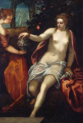Unclothed Painting - Susanna by Tintoretto