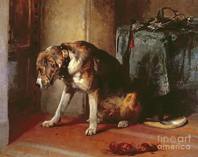 Landseer Painting - Suspense by Edwin Landseer