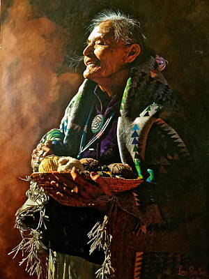 Painting - Suzie Yazzie by Lane Baxter