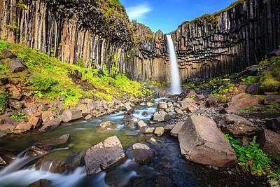 Photograph - Svartifoss Waterfall by Alexey Stiop