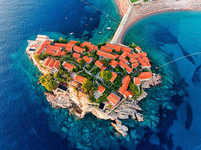 Cities Royalty-Free and Rights-Managed Images - Sveti Stefan by Chris Thodd