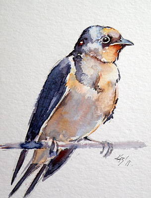 Swallowing Painting - Swallow by Kovacs Anna Brigitta
