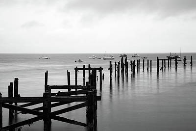 Photograph - Swanage Old Pier by Ian Middleton