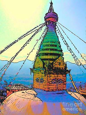 Photograph - Swayambhunath by Lisa Dunn