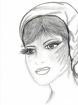 Drawing - Sweet Flapper by Sonya Chalmers