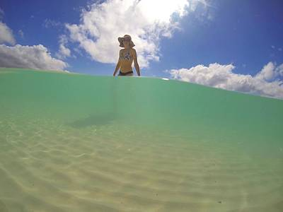 Photograph - Swimming At Whitehaven Beach On Whitsunday Island by Keiran Lusk