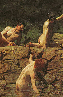 Strength Painting - Swimming Hole by Thomas Cowperthwait Eakins