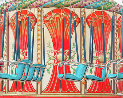 Swings Ride In Detail Art Print by Erin Cadigan
