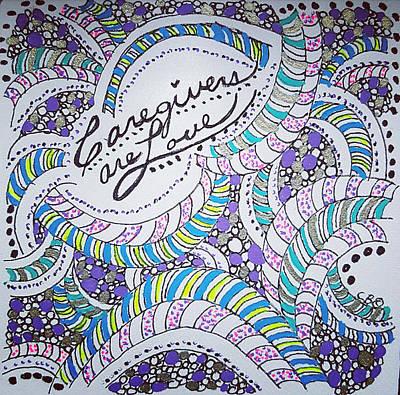 Drawing - Swirls by Carole Brecht