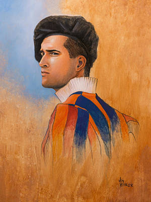 Art Print featuring the painting Swiss Guard by Joe Winkler