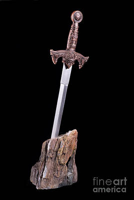 Stick Style Photograph - sword in the stone symbol of King Arthur  by Arletta Cwalina