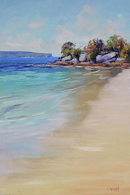 Paintings - Sydney Harbour beach by Graham Gercken