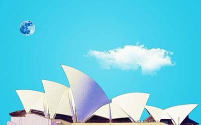 Painting - Sydney Opera House By Adam Asar 17 by Adam Asar