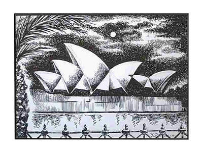 Sydney Opera House I Art Print by Yelena Revis