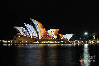 Photograph - Sydney Opera House Vivid Sydney Festival by David Iori