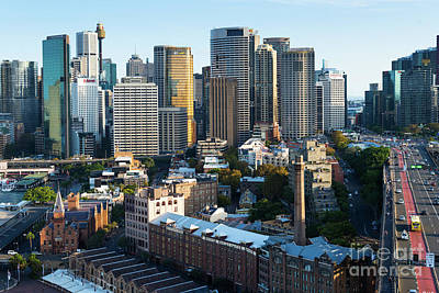 Landscape Photograph - Sydney Skyline With  by Andrew Michael