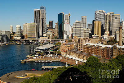 Photograph - Sydneys Circular Quay by David Iori