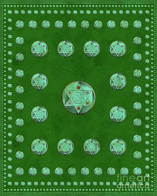 Mayan Painting - Symbols Of Magick by Pierre Blanchard