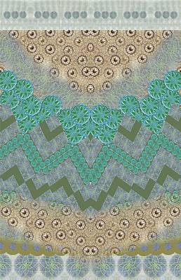 Tapestries - Textiles Digital Art - Symetric Harmony Pattern by Sandrine Kespi