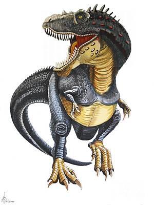 T-rex Art Print by Murphy Elliott