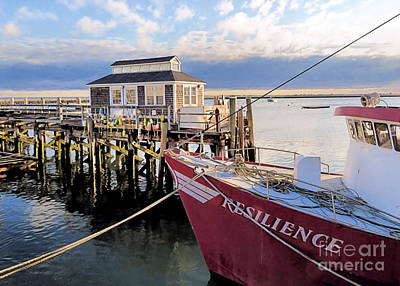 Photograph - T Wharf Plymouth Ma by Janice Drew