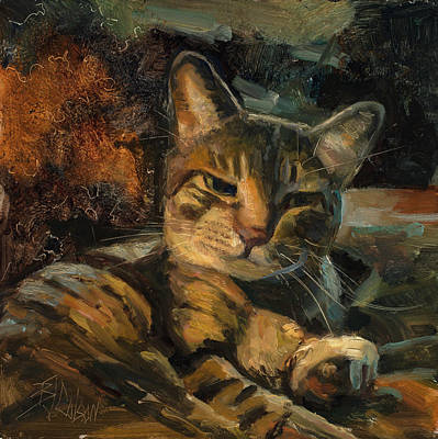 Painting - Tabby Nap by Billie Colson