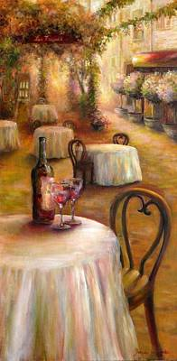 Painting - Table For Two by Bonnie Goedecke