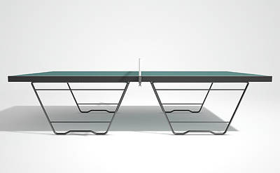 Table Tennis Table Art Print