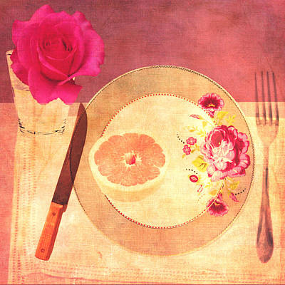 Tablescape Art Print by Lisa Noneman