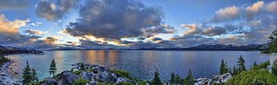 Tahoe Sunset Panorama Art Print