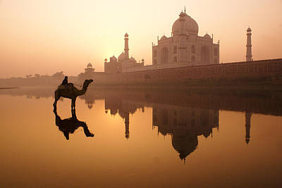 Photograph - Taj Mahal At Sunrise by Michele Burgess