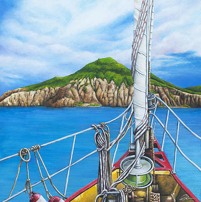 St. Maarten Painting - Take Me To Saba by Cindy D Chinn