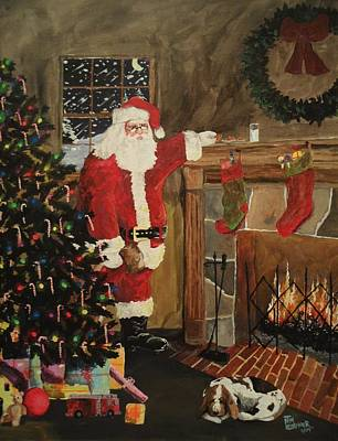 Santa Claus Painting - Taking A Break by Tim Loughner