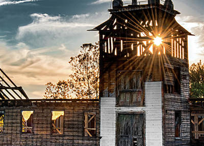 Photograph - Talcot Mill Rconstruction At Sunset by Phil Cardamone