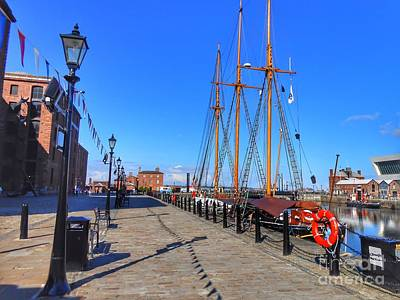 Photograph - Tall Ship At Albert Dock by Joan-Violet Stretch