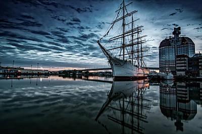Photograph - Tall Ship At Sunset by Pasi Mammela