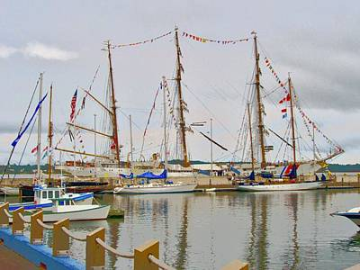 Photograph - Tall Ships by Stephanie Moore