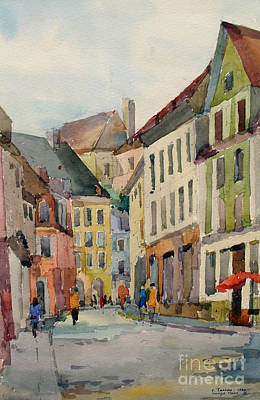 Watercolor Painting - Tallinn by Natalia Eremeyeva Duarte