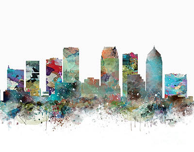 Painting - Tampa Florida Skyline by Bleu Bri