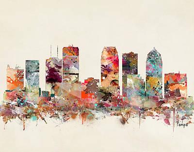 Painting - Tampa Florida Skyline by Bri B