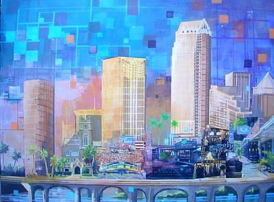 Latidude Image - Tampa skyline revisited by Carol Joy Shannon