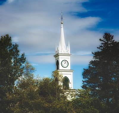 Soft Clocks Photograph - Tamworth Congregational Church Steeple by Library Of Congress