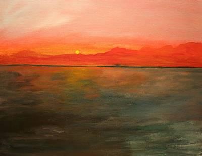 Painting - Tangerine Sky by Julie Lueders