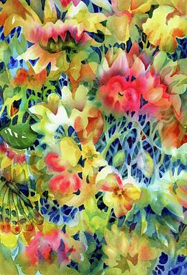 Painting - Tangled Blooms by Ann Nicholson