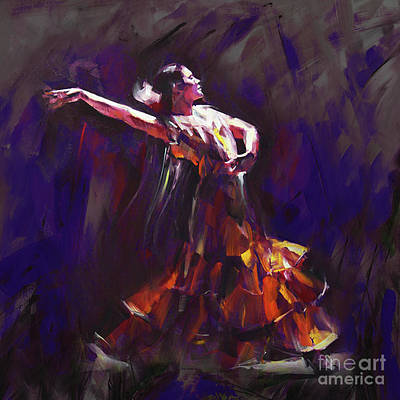 Male Painting - Tango Dancer 01 by Gull G