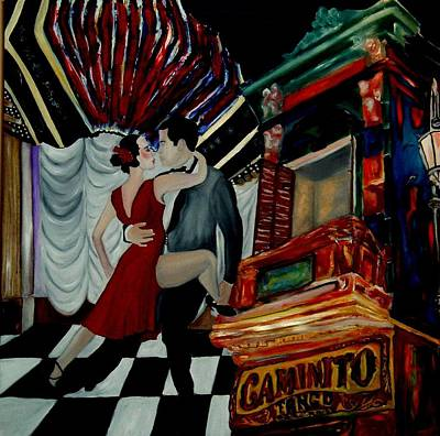 Tango For My Father Art Print by Andrea Vazquez-Davidson