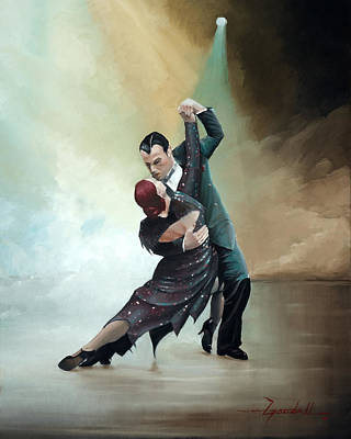 Rumba Painting - Tango In The Fog by Lee Goodall