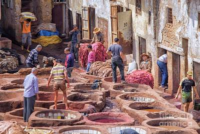 Moroccan Photograph - Tannery In Fez by Patricia Hofmeester
